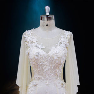 Dresses & Skirts - 3D beaded lace wedding dress with loose sleeves